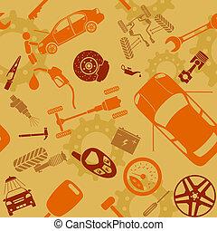 motieven, auto dienst, seamless