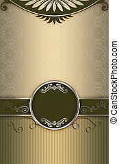 motieven, frame., achtergrond, luxe