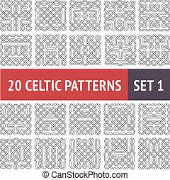motieven, keltisch, set