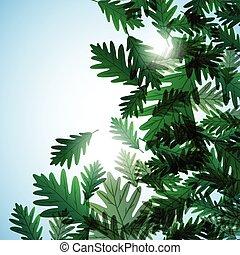 motif., carvalho, leaves., ilustração, outono, vetorial, fundo