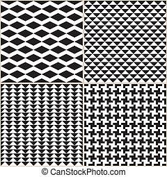 motifs, blanc, noir