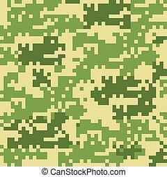 motifs, camouflage, numérique, seamless