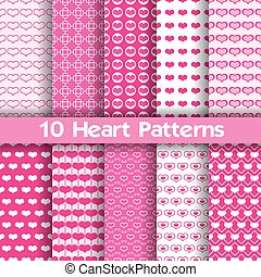 motifs, coeur, seamless, vecteur, 10