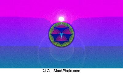 motifs, coloré, formes, en mouvement, kaléidoscope, résumé, multi