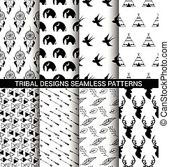 motifs, conceptions, ensemble, tribal, seamless