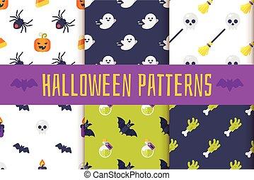 motifs, ensemble, halloween