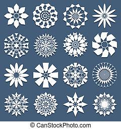 motifs, ensemble, spirale, gabarit