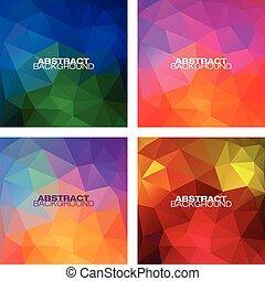 motifs, géométrique, ensemble, moderne, coloré