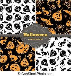 motifs, halloween, seamless