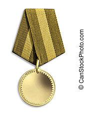 motifs, isolé, médailles