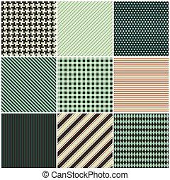 motifs, neuf, tissu, collection, seamless