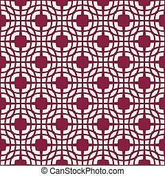 motifs, résumé, pattern., seamless, sombre, arrière-plan., vecteur, blanc rouge
