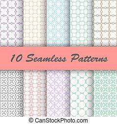 motifs, seamless, 10, géométrique