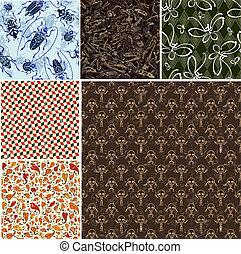 motifs, seamless, collection