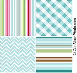 motifs, seamless, texture, tissu