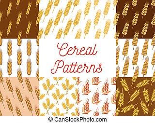 motifs, seigle, blé, céréale, oreilles