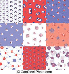 motifs, vecteur, seamless, coloré