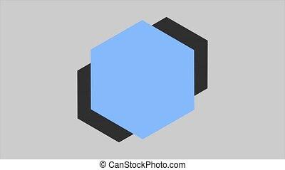 Motion abstract geometric blue shape, retro background. ...