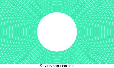 Motion abstract geometric green vertigo and spiral lines, retro background. Elegant and luxury dynamic style for business and corporate template