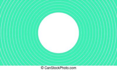 Motion abstract geometric green vertigo and spiral lines, retro background