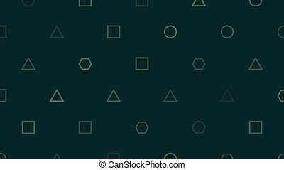 Motion abstract geometric small shapes, retro background. ...