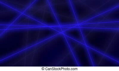 Motion background: abstract glowing blue lines crossings. 8K seamless loop clip