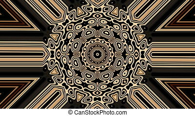 Motion background of earth tone pattern - Psychedelic...