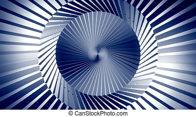 Motion background of lines and facets in a cylinder.