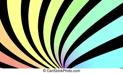 Seamless loop motion background with colorful stripes