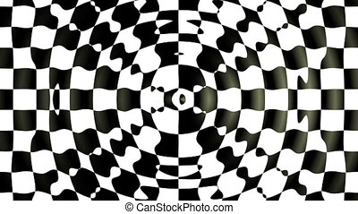 Motion background with optical illusion (wave made from...