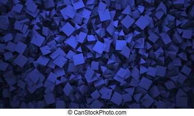 Motion blue geometric shapes, abstract background