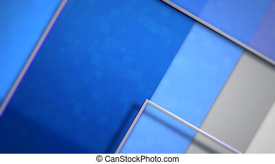 Motion blue squares abstract background