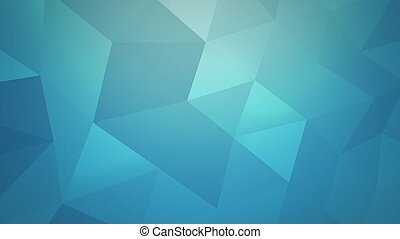 Motion blue triangles abstract background