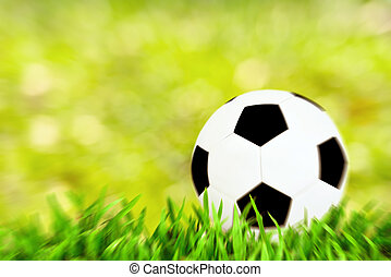 Motion blur Football abstract backgrounds with unfocused bokeh
