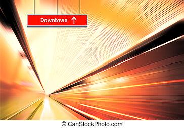 motion blur of high speed