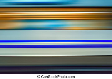 Motion blur of high speed train in subway