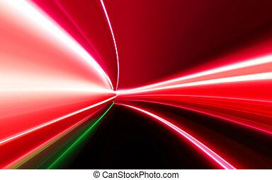 motion blur on night road - motion blur light on high-speed ...