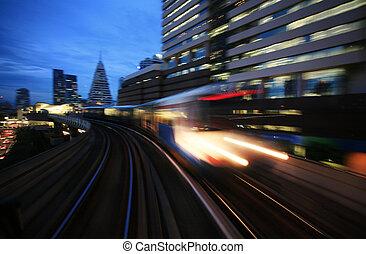 Motion blurred on speeding
