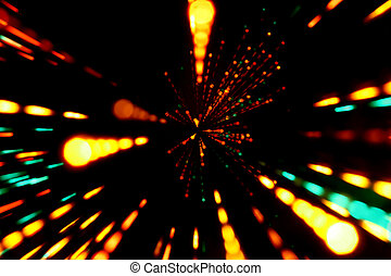 motion bokeh - motion colored bokeh abstract background