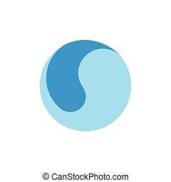 motion circle water global design logo vector