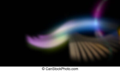 Motion colorful disco lights, abstract background
