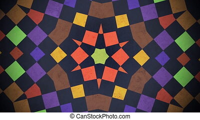 Motion colorful squares pattern, abstract background