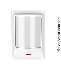 Motion detector isolated on white background