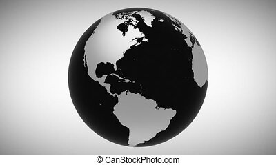 Motion earth surface close up business concept
