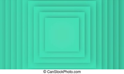 Motion geometric gradient green vertigo squares, retro abstract background. Elegant and luxury dynamic style for business and corporate template