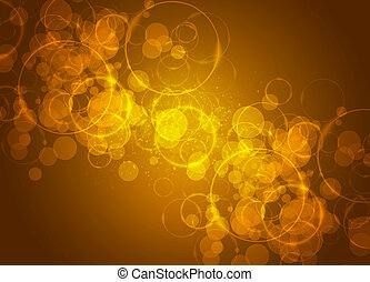 Motion glowing circles