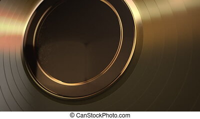 Motion gold round shape, abstract background