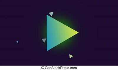 Motion gradient green and yellow triangles, retro abstract background. Elegant and luxury dynamic style for business and corporate template