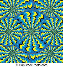 (motion, illusion), wheelies, zigzag