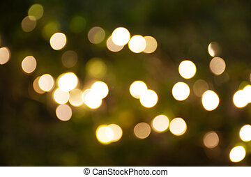 Motion movement of colorful Bokeh of led lingthing in garden of street market fair at Nakhon Ratchasima, Thailand.